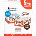 PROMO FERRERO KINDER BUENO+T4 10% DESCUENTO