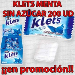 PROMO WEB CHICLE KLETS MENTA S/A 200 UD FINI