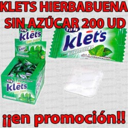 PROMO WEB CHICLE KLETS HIERBABUENA S/A 200 UD FINI
