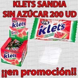 PROMO WEB CHICLE KLETS SANDIA S/A 200 UD FINI