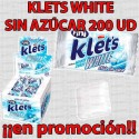 PROMO WEB CHICLE KLETS WHITE S/A 200 UD FINI