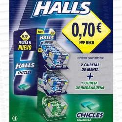 LOTE MONDELEZ CHICLE HALLS 75 UD