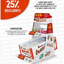 EXPOSITOR-TIC-TAC--KINDER-BUENO-WHITE-2x1,5EUR