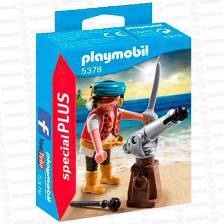PLAYMOBIL-PIRATA-CON-CAÑON-5378