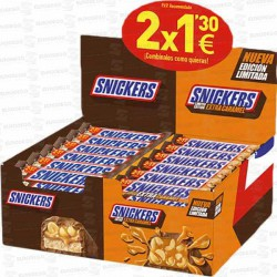 LOTE MARS SNICKERS EXTRA CARAMEL 2x1,30€ 48 UD