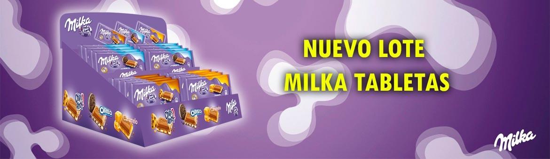 Nuevo lote Milka tabletas