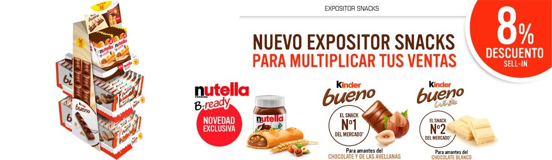 Nuevo expositor Ferrero Snacks