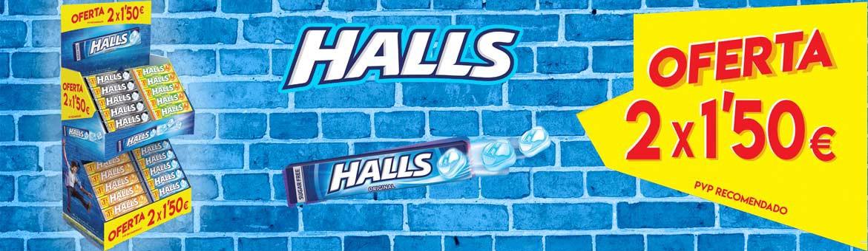 Nuevo lote Halls 2x1.5€