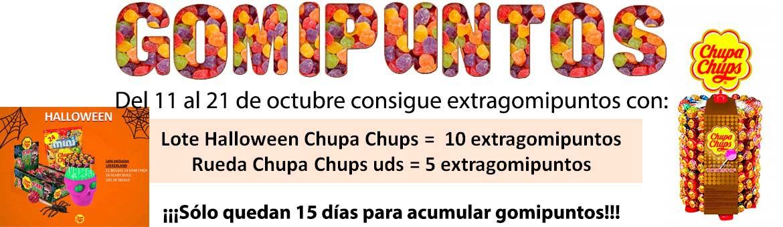 Esta semana extra gomipuntos con CHUPA CHUPS