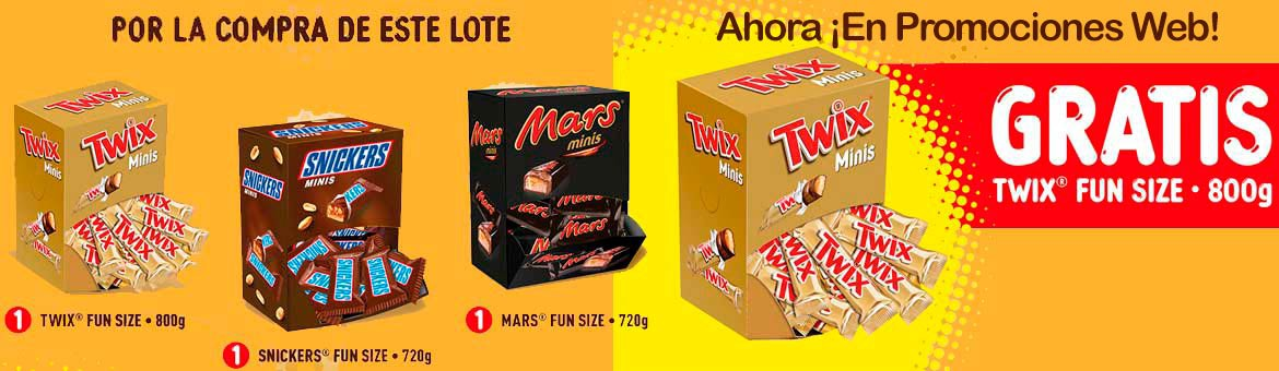 Lot Mars Fun Size in Web Promotions