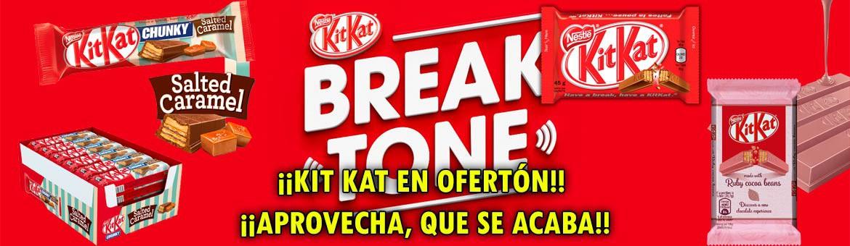 Ofertón的Kit Kat。 跑完了