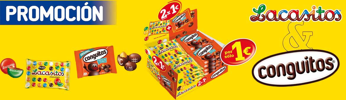 Lot Lacasitos Conguitos 2x1€