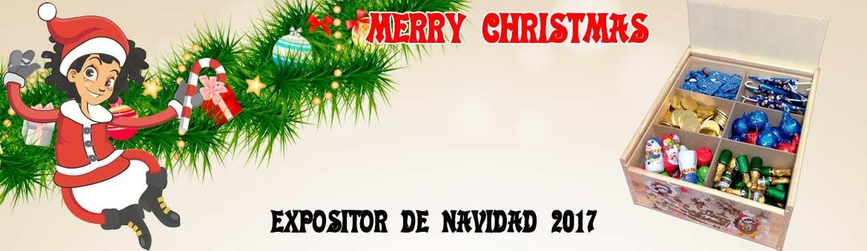 Expositor Madera Navidad 2017