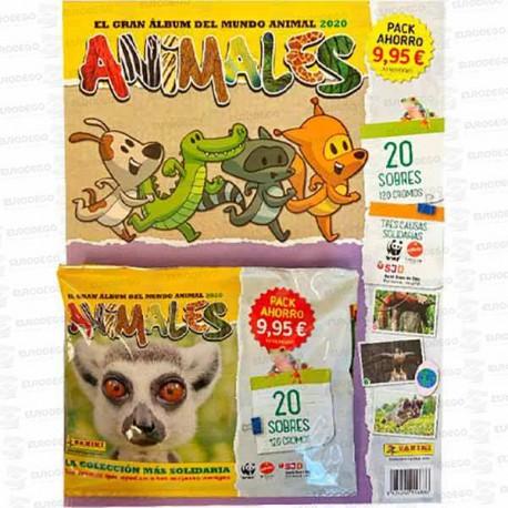 PACK-AHORRO-ANIMALES-20-SOBRES-2020-PANINI