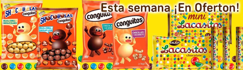 本周提供Lacasitos,Conguitos和Shocobolas!