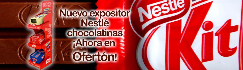 Nuevo expositor chocolatinas Nestlé. ¡Ahora en Ofertón!