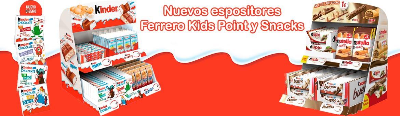 新参展商费列罗儿童点和小吃