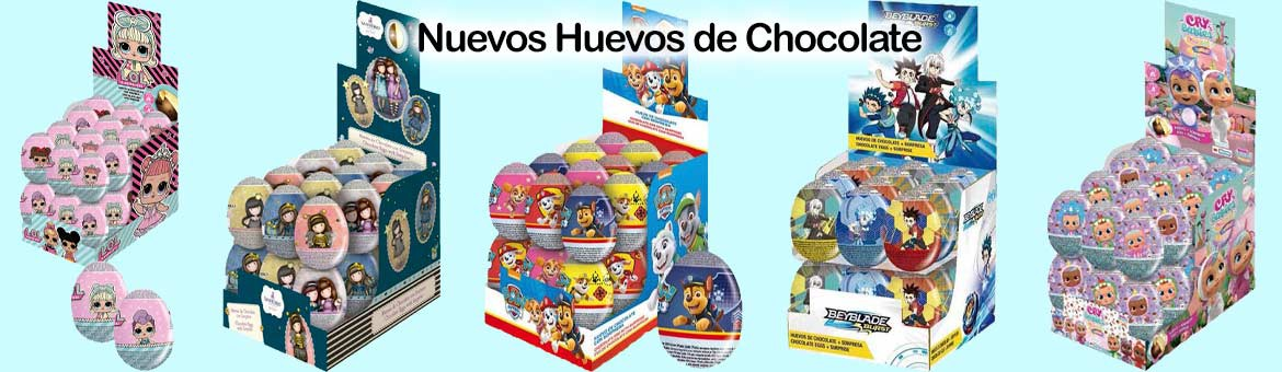 New chocolate eggs of favorite characters