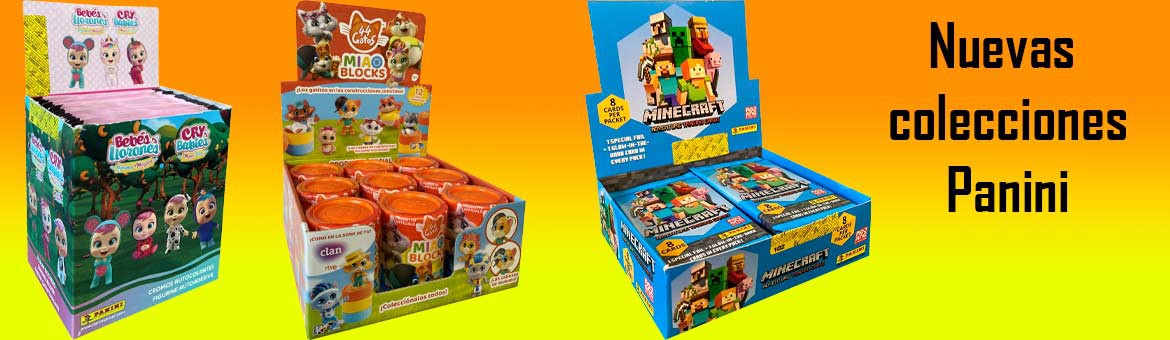 New Panini collections; cry babies, Minecraft and 44 cats