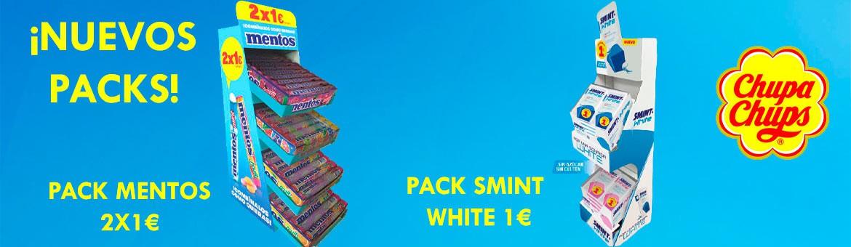 New Mentos and Smint Chupa Chups pack