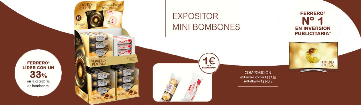 Nuevo expositor Ferrero Check Out
